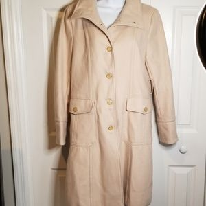 Kenneth Cole 3/4 length Cream Wool Jacket
